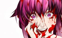 future diary blood smiling girl hd wallpaper anime 1920×1080 a943 1563