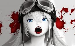 Vampire blood anime girl blue eyes fangs hd wallpaper 1920×1200 791