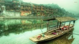 Boat on the Youlong river, China wallpaper 1280x800 Boat on the 1908