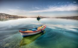 Rowboat in the bay wallpaperWorld wallpapers#11211 932