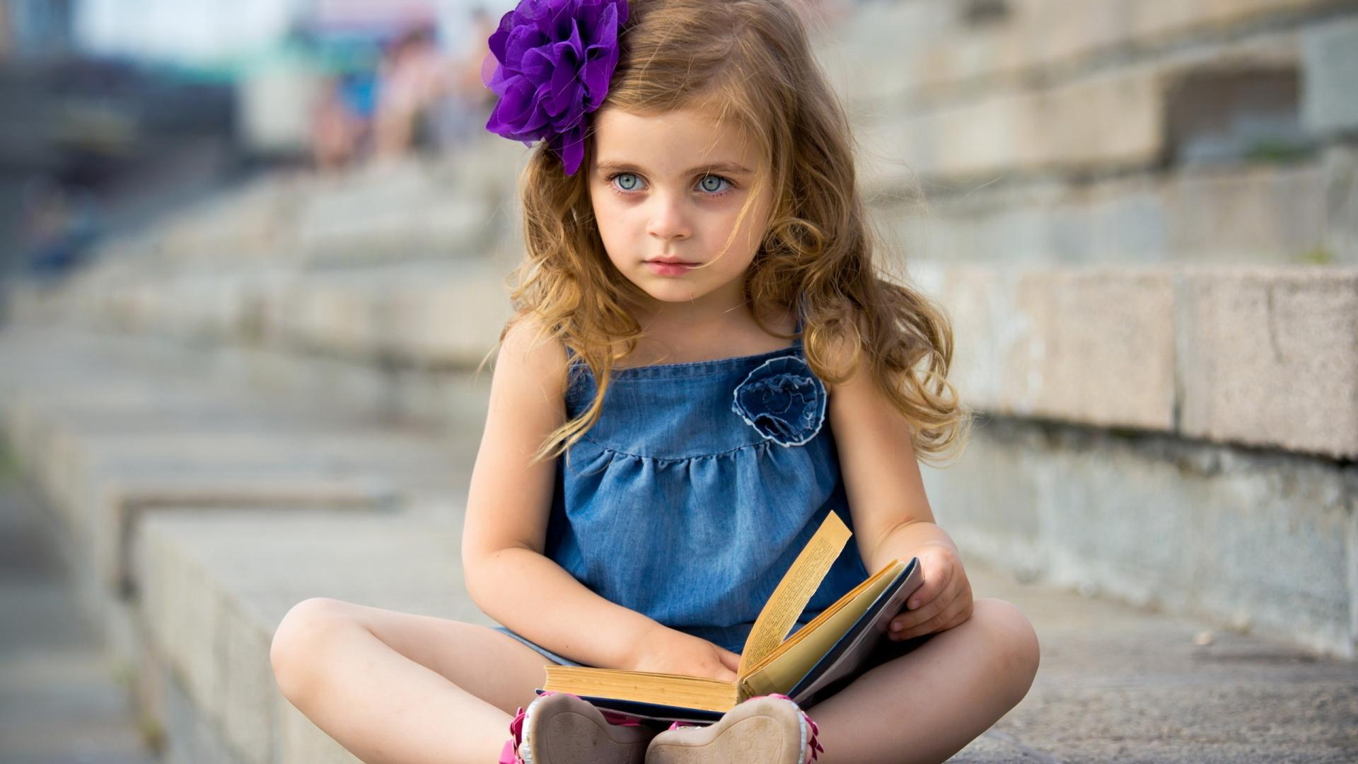 Cute Baby Girl mood book child wallpaper background 620
