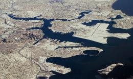 Boston aerial view after snow storm wallpaper 817