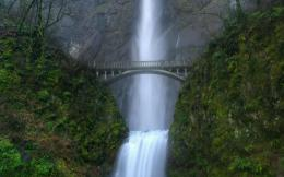 Waterfall, bridge, multnomah, fallsWallpapersPics 157
