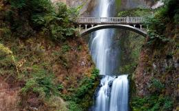 Waterfall with Bridge HD Wallpapers   HD WALLPAPERS 1921