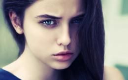 Brunette Girl Blue Eyes HD Wallpaper 851