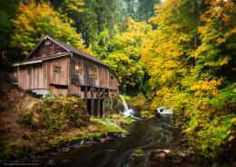 Download Hintergrund Cedar Creek Grist Mill, Woodland, Washington 1740