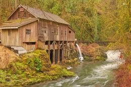 Cedar Creek Grist Mill: Water powered mill built in 1876Washington 823