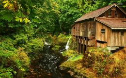 Cedar Creek Grist Mill, Washington wallpaperWorld wallpapers 851