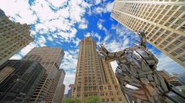 Wallpapers, Download 1920x1080 chicago world sculpture chrome michigan 292