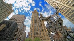 Chrome Sculpture On Michigan AveIn Chicago wallpaper 1357
