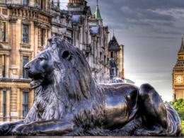 Lion Sculpture At Trafalgar Square Hd Wallpaper | Wallpaper List 1835