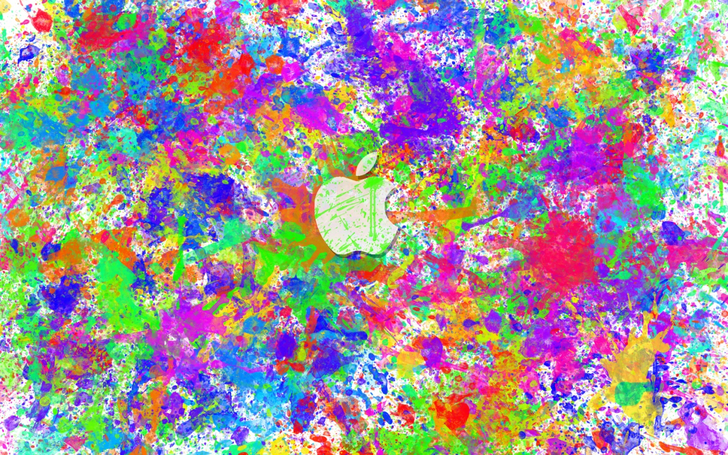 1440x900 Apple Color Splat desktop PC and Mac wallpaper 1621