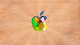 Download Colorful Apple logo wallpaper 810