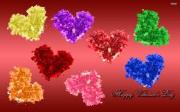 Colorful Heart Happy Valentines Day Wallpaper #20164 Wallpaper 334