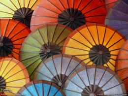 Colorful Umbrellas Photo – Laos Wallpaper – National Geographic 578