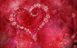 Valentine Day Colorful Heart WallpaperDesktop Wallpapers Free Download 967