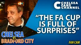 "THE FA CUP IS FULL OF SURPRISES"" Chelsea 2 Bradford City 4Fan Cam 1711"