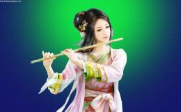 Cute fantasy girl flute playing | Beautiful hd wallpaper 578