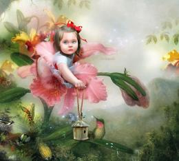 Cute child abstract fantasy girl HD Wallpaper 1365
