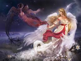 art girl with a bird wallpaper golden fantasy girl wallpapers 256