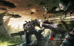 download cyber war wallpaper tags gears of war cyber warrior dark 1146