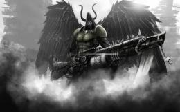 cyber angel of death gothic wallpaper 441