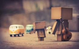 Danbo And Car HD Wallpaper | 3D & Abstract Wallpapers 732