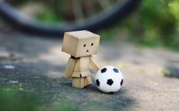 Danbo with a football wallpaper967906 135