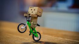 Danbo On Bicycle HD WallpaperStylishHDWallpapers 1729
