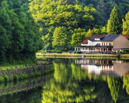 Wonderful Riverside House Hd Wallpaper | Wallpaper List 642