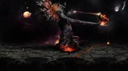 Destruction of the earth wallpaper in 3DAbstract wallpapers 1614