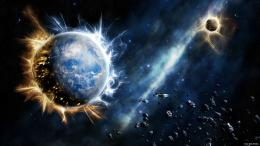 , Earth Collides Meteor, Earth On Destruction, Earth wallpaper, Earth 958