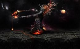 Destruction Of The Earth Darkness Girl Fire hd wallpaper #1143374 549