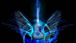 Blue Electric Guitar Wallpaper Images & PicturesBecuo 582
