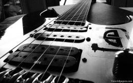 Electric Guitar Black And white HD Wallpaper | Music HD Wallpapers 542