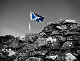 Scottish Flag Historic Scottish Castles 1857