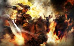 Dynasty Warriors 8 fantasy warrior horse fire warrior battle sword 455