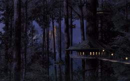Fantasy Treehouse Widescreen Wallpaper jpg 602