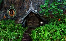 Hobbit fantasy forest trees house home wallpaper | 2560x1600 | 91214 1324