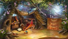 Elf Bedroom Kid Safe Tree House Fantasy hd wallpaper #1244887 835