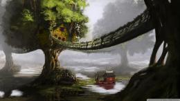 Love Treehouses: Fantasy Tree House Wallpaper 1920x1080 1967