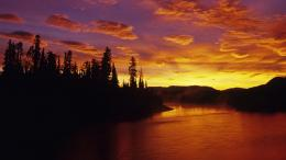 View Dawn On The Dezadeash River And Boreal Forest, Yukon, Canada in 892