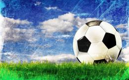 Football Wallpapers green grass blue sky Beautiful Soccer Football 1854