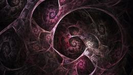 Download Purple fractal spirals wallpaper 1271