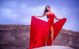 Girl in Red Dress HD Wallpapers4K Wallpapers 601