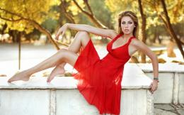 girl in a red dress wallpaper tags face pose dress beautiful girl 1069