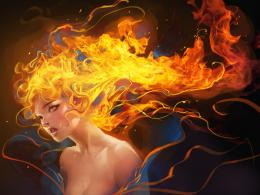 Fire Vampire by sakimichan on DeviantArt 1409