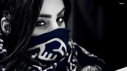 with a scarf on her face wallpaperPhotography wallpapers#18444 1786