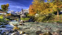 Download Glorious river and bridge hdr wallpaper in Nature wallpapers 101