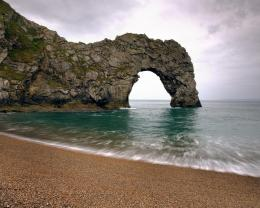 download glorious beach with arch rock wallpaper in nature wallpapers 336